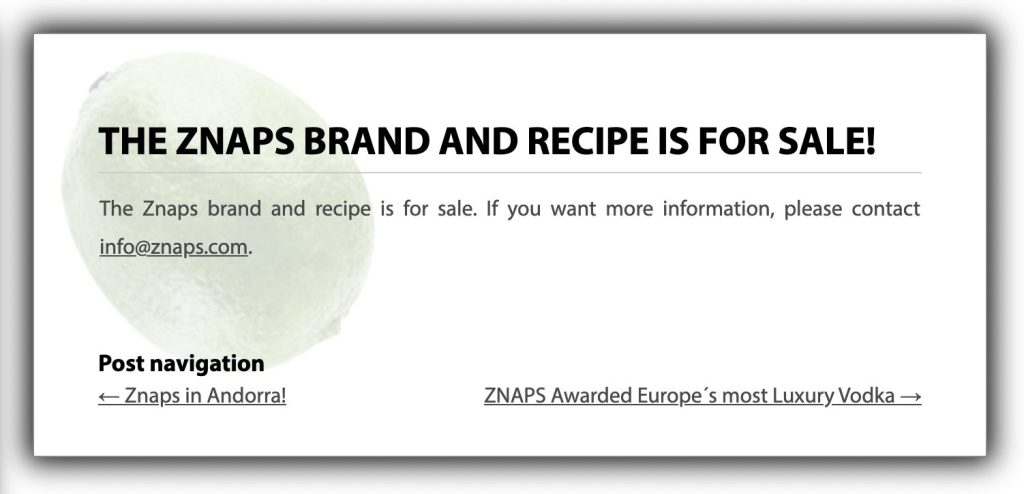 Znaps brand for sale